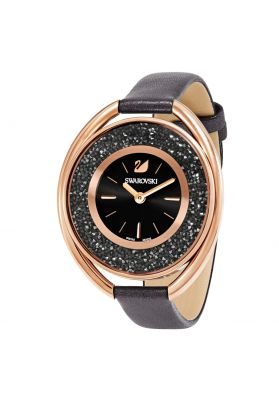 Swarovski_Crystalline_Oval_Black_&_Rose_Leather_Watch