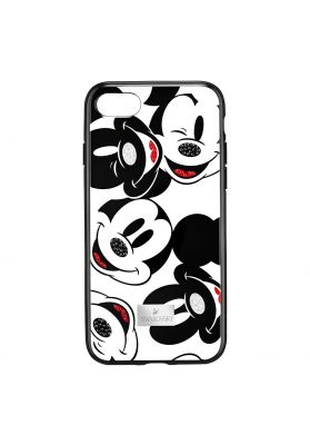 Swarovski Mickey Face Smartphone Case with integrated Bumper, iPhone® 7 / 8 Plus, Black