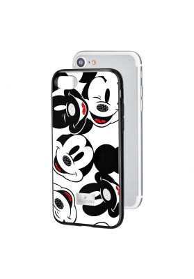 Swarovski Mickey Face Smartphone Case with integrated Bumper, iPhone® 7 / 8, Black