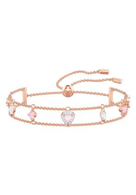 Swarovski One Bracelet, Multi-Coloured, Rose Gold Plating