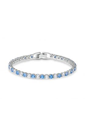 Swarovski Anniversary Deluxe Tennis Bracelet - Blue and White Crystal