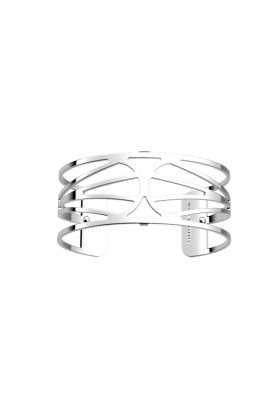 Les Georgettes Garden 25mm Silver Finish Bangle
