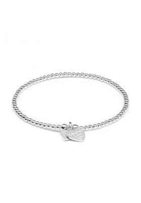 Annie Haak Santeenie Silver Charm Bracelet - Love Laughter Life