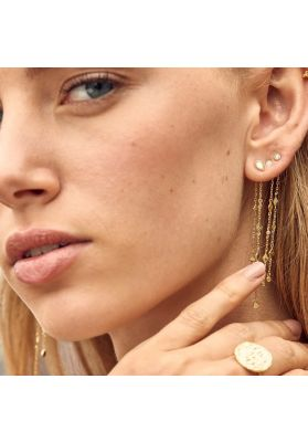 Ania Haie Bohemia Shimmer Drop Earrings - Gold