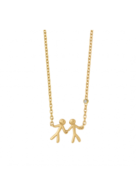 byBiehl Together My Love Gold Necklace