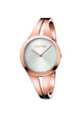 Calvin Klein Ladies Addict Bangle Watch, Rose Gold Tone