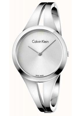 Calvin Klein Ladies Addict Bangle Watch, Silver Tone