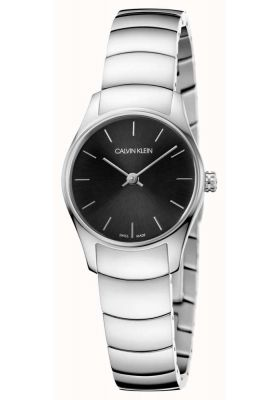 Calvin Klein Ladies Classic Too Watch, Silver and Black Tone