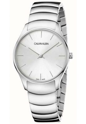 Calvin Klein Mens Classic Too Watch, Silver Tone