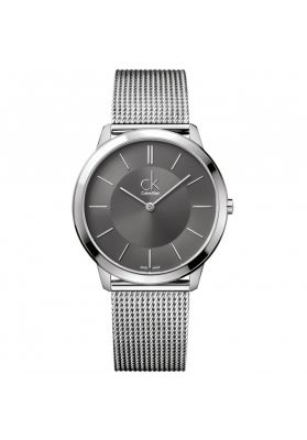 Calvin Klein Mens Minimal Watch, Silver and Grey Tone