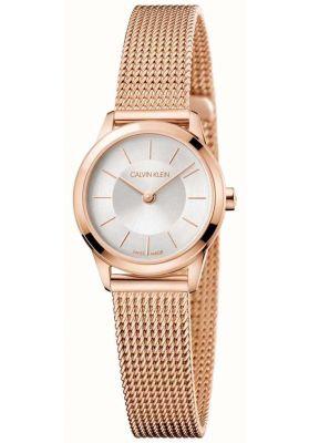 Calvin Klein Ladies Minimal Watch, Rose Gold Tone