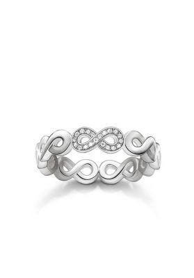 Thomas Sabo Diamond and Silver Infinity Ring