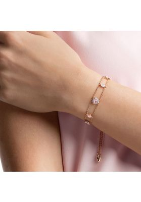 Swarovski One Bracelet, Multi-Coloured, Rose Gold Plating