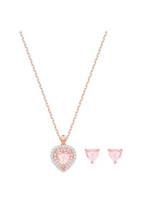Swarovski One Set, Multi-Coloured, Rose Gold Plating