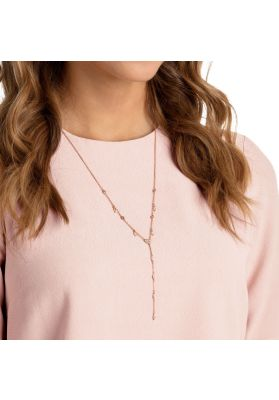 Swarovski One Y Necklace, Multi-Coloured, Rose Gold Plating