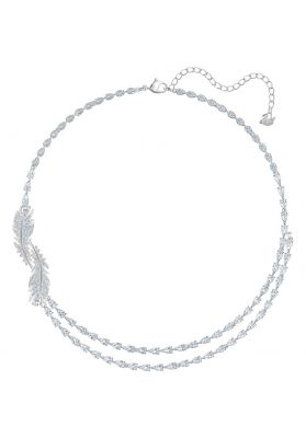 Swarovski Nice Necklace, White, Rhodium Plating