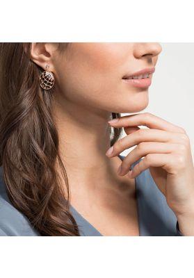 Swarovski Precisely Drop Pierced Earrings, White, Rose Gold Plating