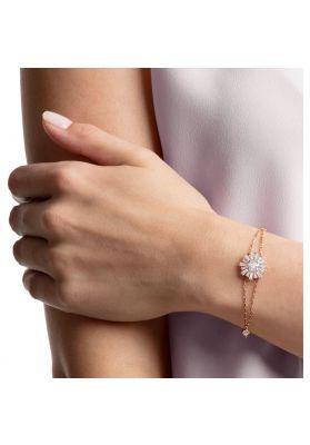 Swarovski Sunshine Bracelet, White, Rose Gold Plating