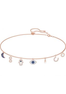 Swarovski Symbolic Necklace, Multi-Coloured, Rose Gold Plating
