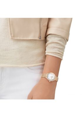 Swarovski Lovely Crystals Mini Watch, Metal Bracelet, Rose Gold Tone