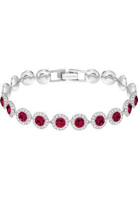 Swarovski Angelic Bracelet, Red, Rhodium Plating