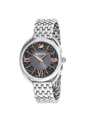 Swarovski Crystalline Glam Watch, Metal Bracelet, Grey, Silver Tone