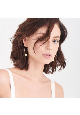 Ania Haie Geometry Slim Hoop Earrings, Gold E005-01G