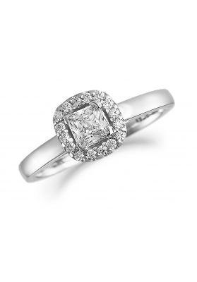 Brown & Newirth Diamond Halo Engagement Ring