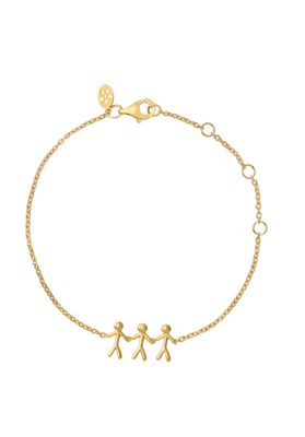 byBiehl Together Family 3 Gold Bracelet
