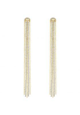 Swarovski Pierced Fit Earrings, White, Gold Plating