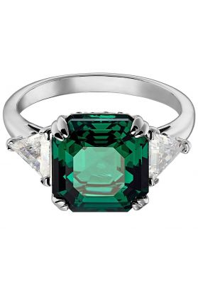 Swarovski Attract Cocktail Ring, Green, Rhodium Plating