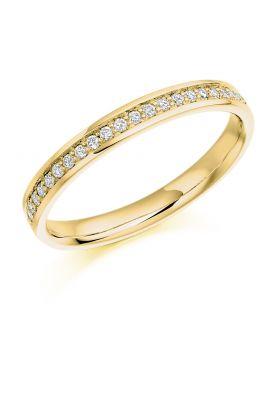 Raphael Collection Half Eternity Ring, Round Brilliant Diamonds in Platinum