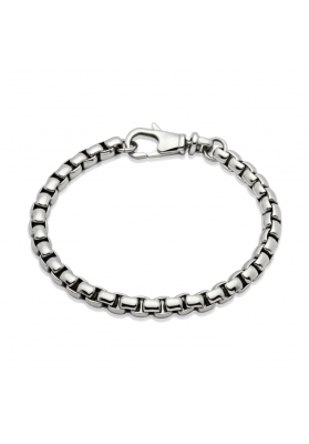 Unique and Co Men's Stainless Steel Bracelet, Chain Linked