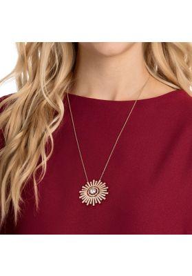 Swarovski Sunshine Long Necklace, White, Rose Gold Plating
