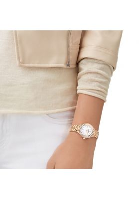 Swarovski Lovely Crystals Mini Watch, Yellow Gold Tone