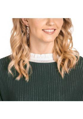 Swarovski Mayfly Pierced Earrings, White, Rose Gold Plating