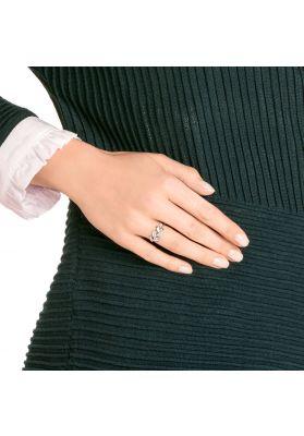 Swarovski Mayfly Ring, White, Rhodium Plating