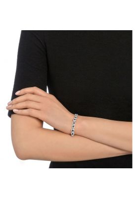 Swarovski Angelic Bracelet, Blue, Rhodium Plating