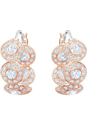 c88ec09c7 Swarovski Angelic Hoop Pierced Earrings, White, Rose Gold Plating ...