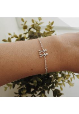byBiehl Together My Love Silver Bracelet
