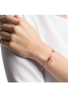 Swarovski No Regrets Ice Cream Bracelet, Multi-colored, Gold plating