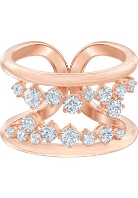 Swarovski North Motif Ring, White, Rose Gold Plating