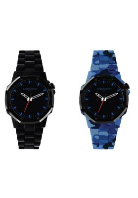 Kamawatch Castell Ocean Watch - Black and Blue Camouflage