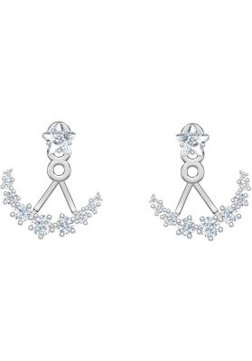 Swarovski Penelope Cruz Moonsun Earrings, White, Rhodium Plating