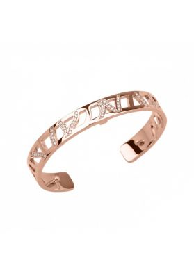 Les Georgettes Ruban 8mm Rose Gold Finish Bangle