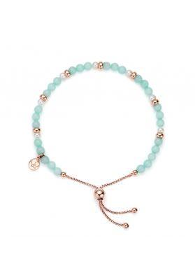 Jersey Pearl Sky Bracelet, Scatter Style in Mint Green