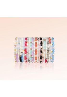 Jersey Pearl Sky Bracelet, Scatter Style in Cloudy Quartz