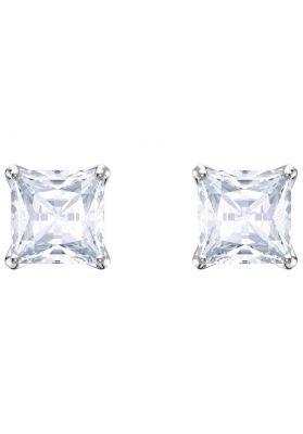 c4e65213e Swarovski Attract Stud Pierced Earrings, White, Rhodium Plating ...