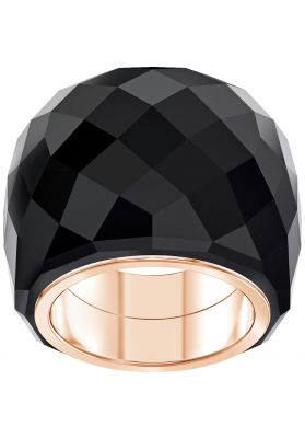 Swarovski Nirvana Ring, Black, Rose Gold Plating