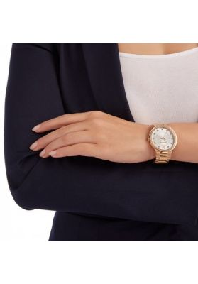 Swarovski City Watch, White, Rose Gold Plating